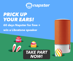 Prick up your ears - 60 days Napster for free + win a Libratone speaker